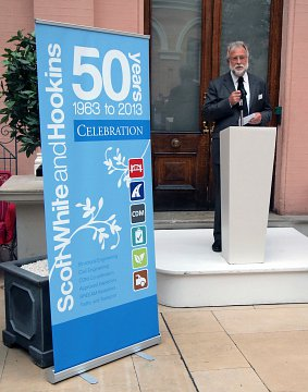 Gorden speaks at the celebrating 50 years event