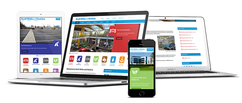 Scott White and Hookins new website is fully responsive and device optimised