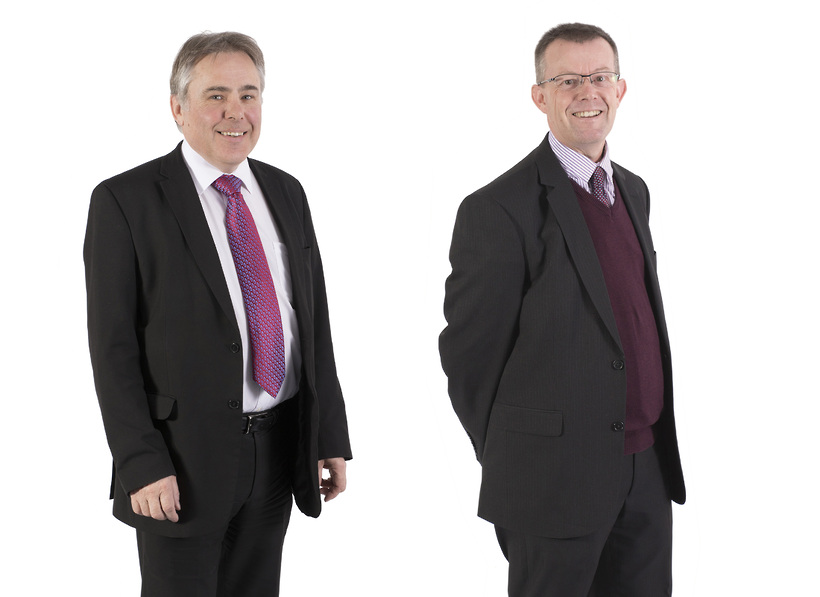 Michael Weaver (left) has stepped down as Managing Partner and Doug Alcock (right) has taken over as Managing Partner.