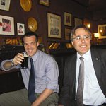 Building Magazine buys a pint for Scott White and Hookins